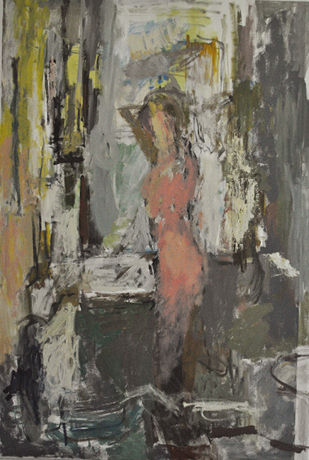 figure in the bathroom